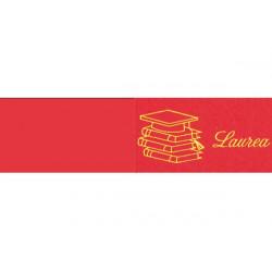 5 bigliettini per bomboniere stampabili Laurea Libri rosso e oro