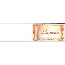 5 bigliettini per bomboniere stampabili Laurea Tema Pergamena