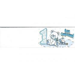 5 bigliettini per bomboniere stampabili Primo Compleanno Tema celeste
