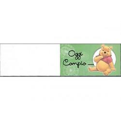 5 bigliettini per bomboniere stampabili Compleanno Tema Winnie the pooh