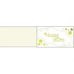 5 bigliettini per bomboniere stampabili 50 anni Anniversario Nozze D'oro