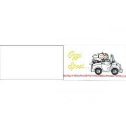 5 bigliettini per bomboniere stampabili Nozze Matrimonio Tema Auto