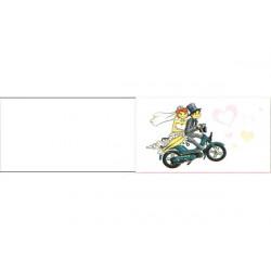 5 bigliettini per bomboniere stampabili Nozze Matrimonio Tema Moto