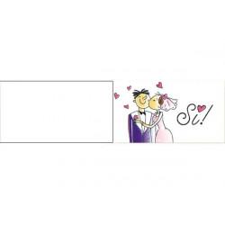 5 bigliettini per bomboniere stampabili Nozze Matrimonio Tema Yes