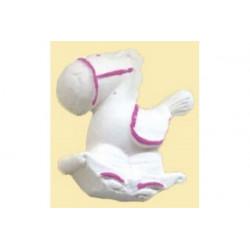 Gessetto Profumato Cavallo a Dondolo Decorato Rosa
