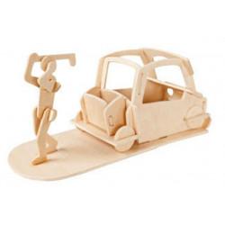 Puzzle 3D in legno tema Portapenne Golf