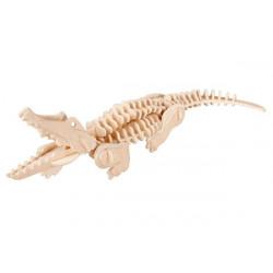 Puzzle 3D in legno tema Coccodrillo