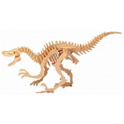 Puzzle 3D in legno tema Dinosauro Deinonico