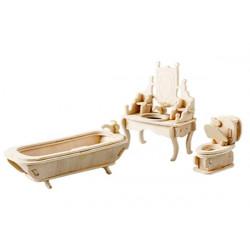 Puzzle 3D in legno tema Bagno