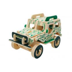 Puzzle 3D in legno tema Jeep