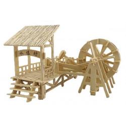 Puzzle 3D grande in legno tema Mulino