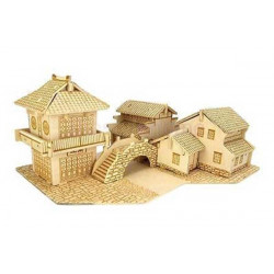 Puzzle 3D grande in legno tema Ponte cinese
