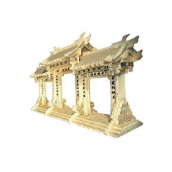 Puzzle 3D grande in legno tema  Paifang Portale Cinese