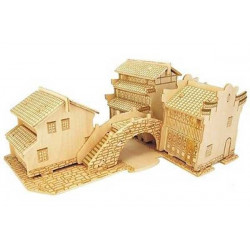 Puzzle 3D grande in legno tema Borgo Cinese