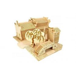 Puzzle 3D grande in legno tema Giardino Cinese