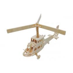 Puzzle 3D in legno tema Elicottero