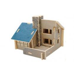 Puzzle 3D in legno tema Cottage Felice