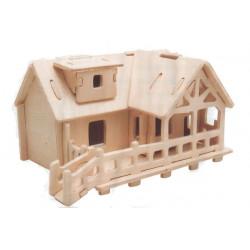 Puzzle 3D in legno tema Cottage