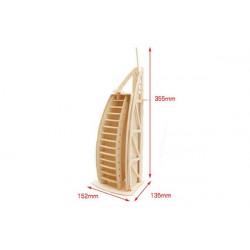 Puzzle 3D grande in legno tema Dubai Hotel