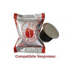 100 capsule Caffè Borbone Miscela Rossa compatibili nespresso