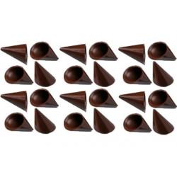 24 Cialde Coni Cioccolato Extra Fondente
