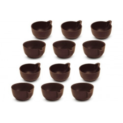 12 Cialde Tazzine Caffè di Cioccolato Extra Fondente