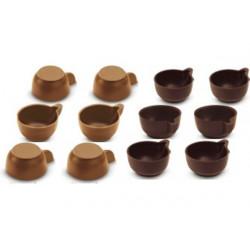 12 Cialde Tazzine Caffè di Cioccolato a Latte e Fondente