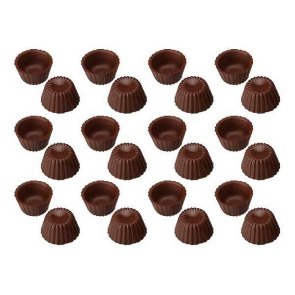 24 Cialde Scodelline Cioccolato Extra Fondente