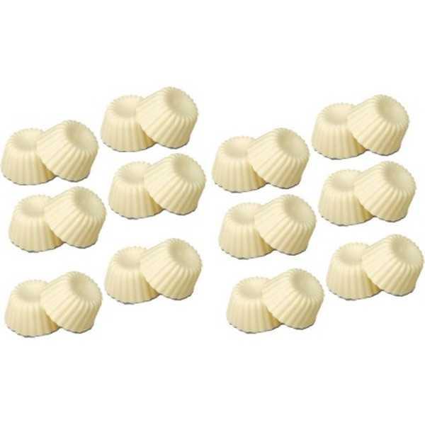 24 Cialde Scodelline Cioccolato Bianco scodelline Puro Avorio