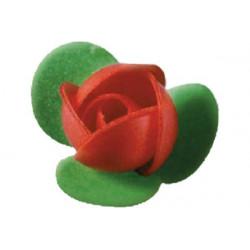 Boccioli di rosa in cialda piccoli pz 4 colore fucsia