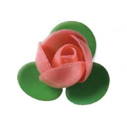 Boccioli di rosa in cialda piccoli pz 4 colore rosa