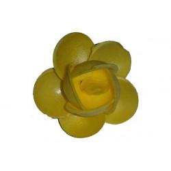 Boccioli di rosa grandi pz 2 colore giallo