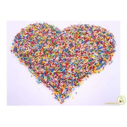 Confettini Codette Miste codette arcobaleno o codette multicolore: codette di zucchero di colori misti in confezione da 100 g.