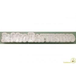 Vassoio Portaconfetti Polistirolo Battesimo 70x11x6cm