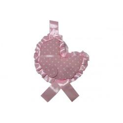Coccarda Nascita Forma Carrozzina Colore Rosa