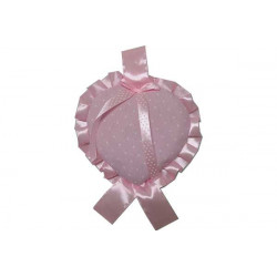 Coccarda Nascita Forma Cuore Colore Rosa