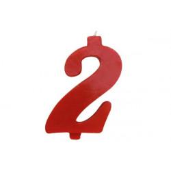 Candela Rossa Maxi n° 2 cm 12