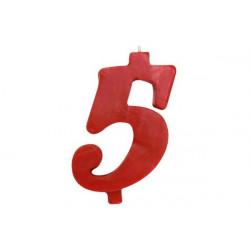 Candela Rossa Maxi n° 5 cm 12