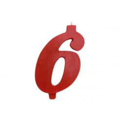 Candela Rossa Maxi n° 6 cm 12