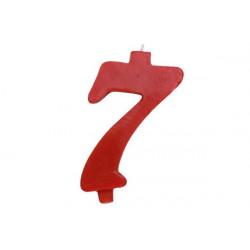 Candela Rossa Maxi n° 7 cm 12