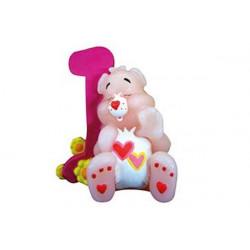 Candela Primo Compleanno Orso Rosa cm 10