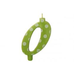 Candela Pois Verde Lime Maxi cm 12 n° 0
