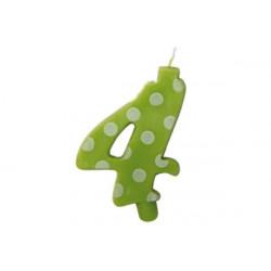 Candela Pois Verde Lime Maxi cm 12 n° 4