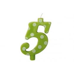Candela Pois Verde Lime Maxi cm 12 n° 5