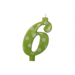 Candela Pois Verde Lime Maxi cm 12 n° 6