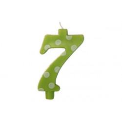 Candela Pois Verde Lime Maxi cm 12 n° 7