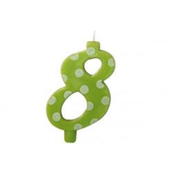 Candela Pois Verde Lime Maxi cm 12 n° 8