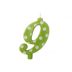 Candela Pois Verde Lime Maxi cm 12 n° 9