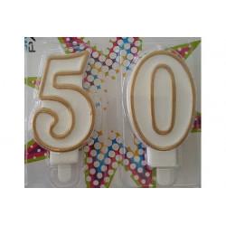 Candela anniversario di matrimonio 50 anni oro