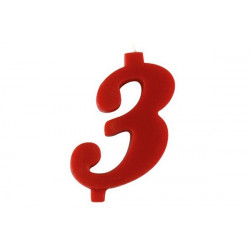 Candela Rossa Maxi n° 3 cm 12